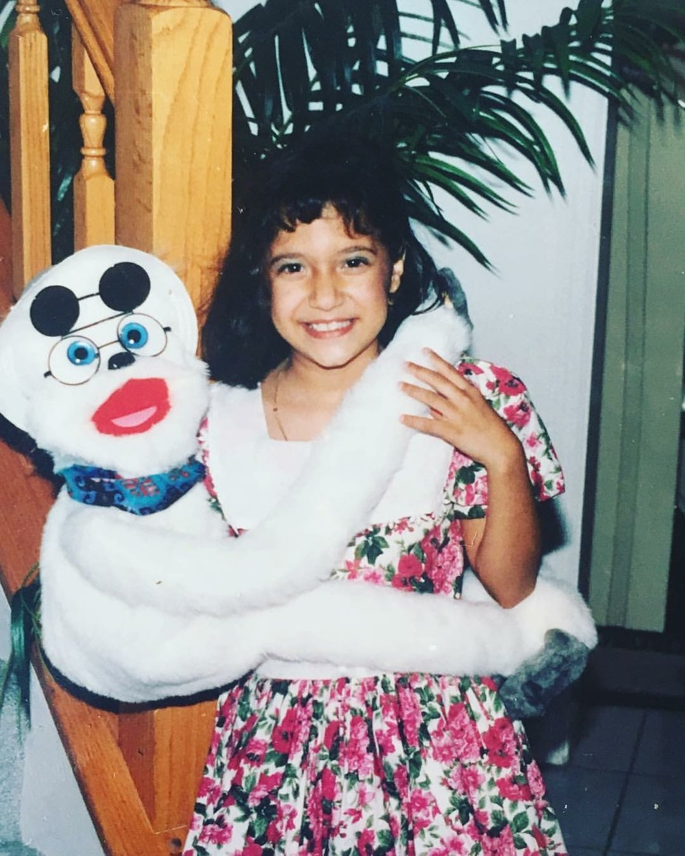 Sheli and her Puppet pal, circa 1994.