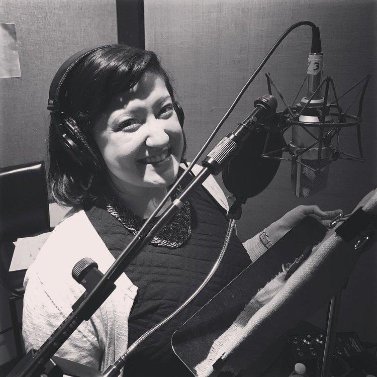 Sheli in the studio