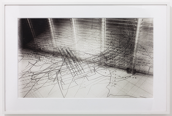 "Traversing Points  / Archival pigment print, Ink, wood frame / 19 1/2"" x 29 1/4"", 2012 / Edition 3 of 7"