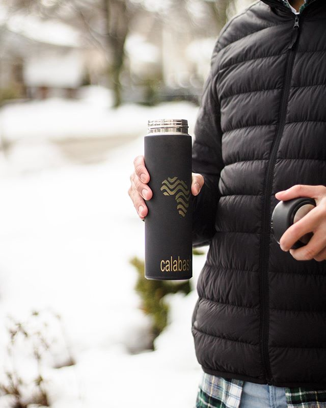 Stay warm out there! ❄️Fill your bottle with coffee, tea or just plain water! ☕️ #staywarm #cleanwater #calabash