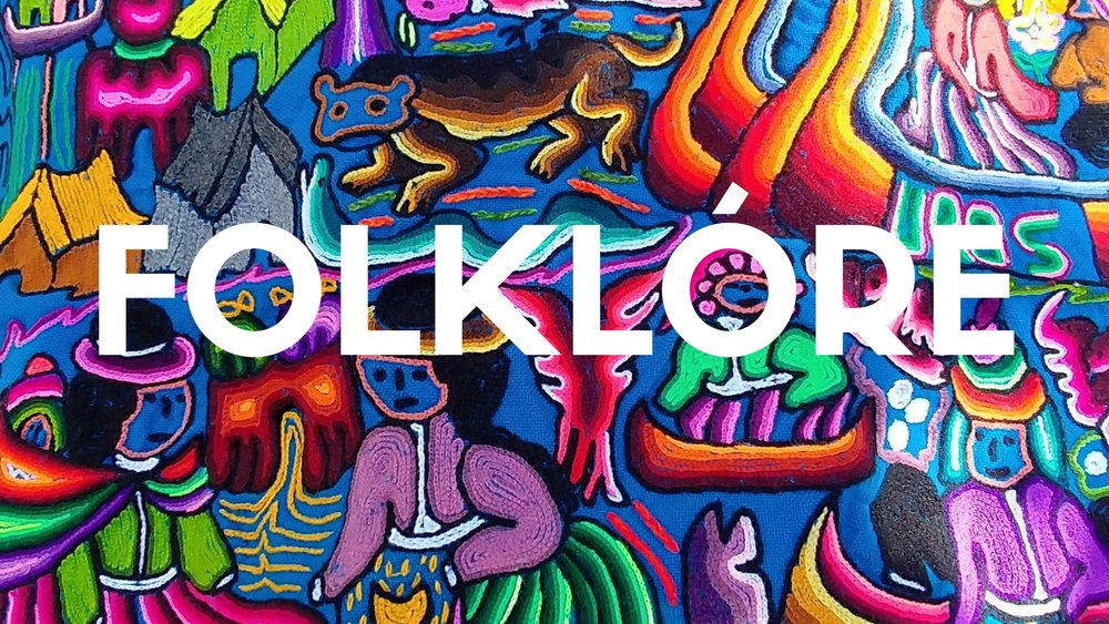 A graphic that says folklore