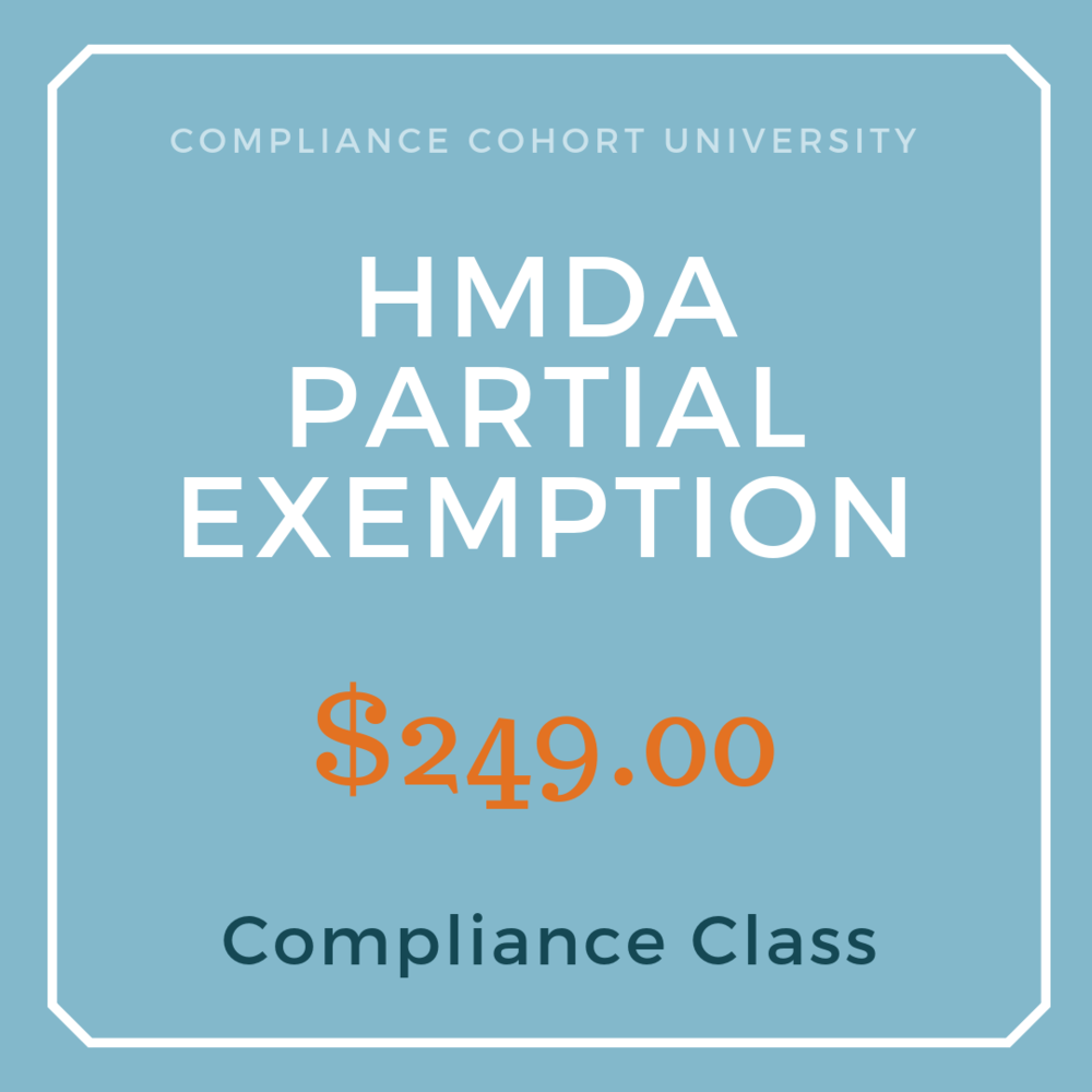 Save time learning the new rules with our video webinar on the HMDA Partial Exemption. Everything you need to know in less than an hour.    Click here for more info.
