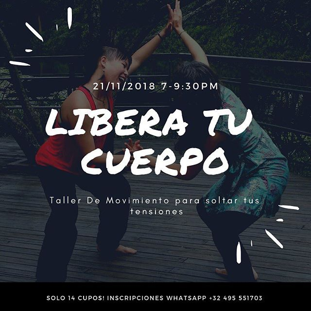 ❓Having tension in your body, especially in your shoulder, neck, and lower back? ❓Wondering how you can release tension, increase mobility and restore the natural flow in your body through movement? ✨Join me and Mieke Vander Heyden (Belgium, Dance and movement therapist) on Nov. 21 for a workshop that guides you to FREE YOUR BODY from tension, pain, and more.✨ ❤️Space is limited to 14 people, RSVP for your spot at https://form.jotformz.com/83166820256660 👏Nos vemos pronto! ~Section 1: Wednesday 21/11/2018, 7-9.30 pm, 25 000 COP ~Section 2: Saturday 24/11/2018, 2-6 pm, 45 000 COP ~Discount: Wednesday + Saturday: 55 000 COP  #dance #workshop #movement #release #terapia