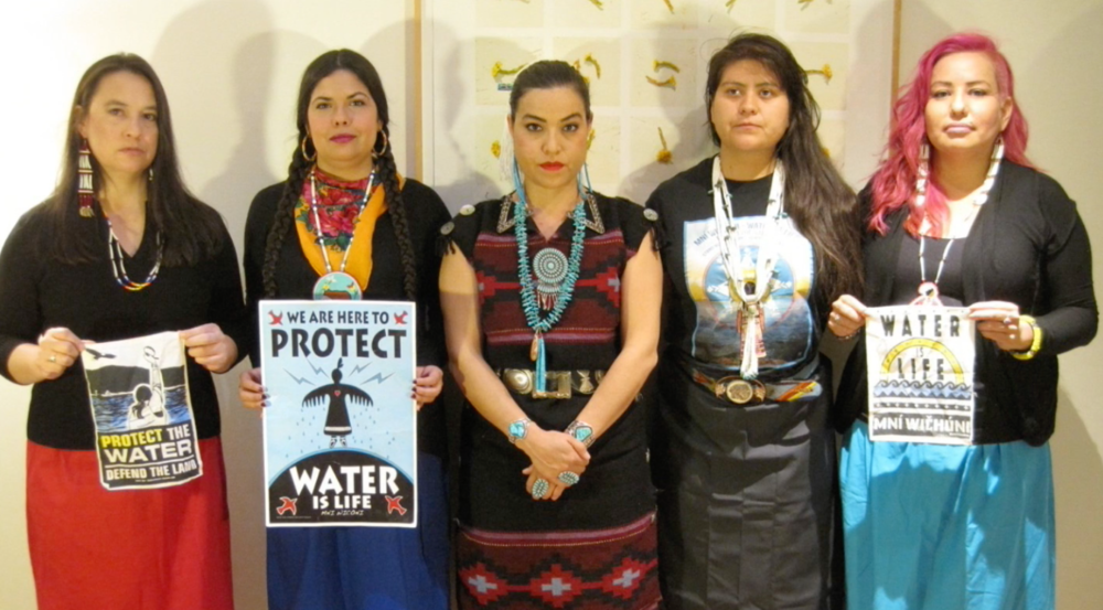 Indigenous Women's Divestment Delegation, March 2017.