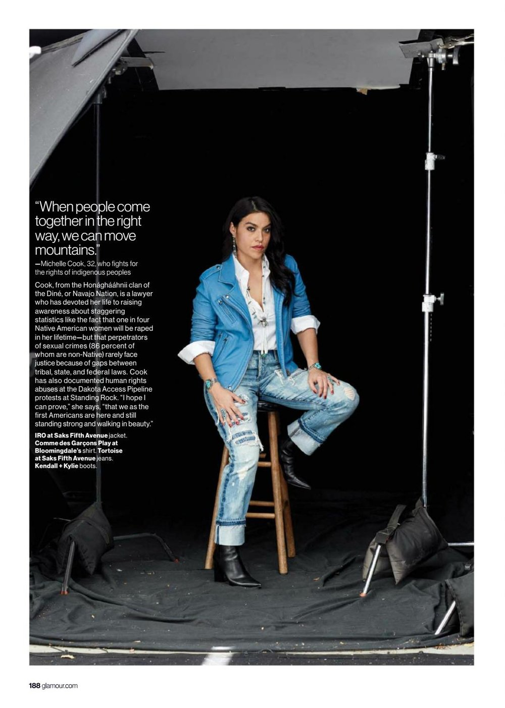 "Glamour Magazine, ""Raise Your Voice."" March 2017."