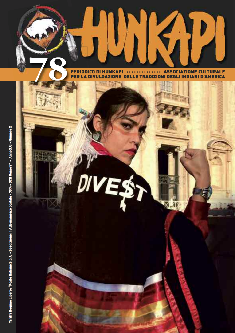 Cover of Italian publication,  Hunkapi,  2017.  Click here to view entire publication.