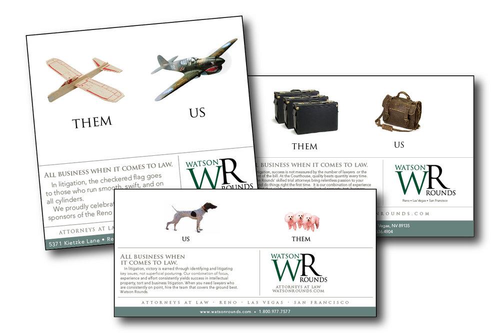 Watson Rounds: Print Ads