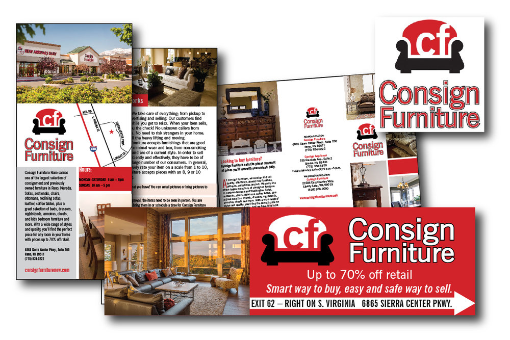 Consign Furniture: Logo, Brochure, Outdoor