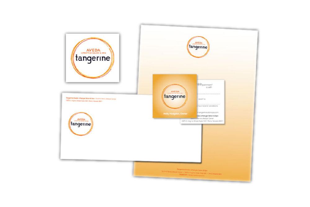 Tangerine AVEDA: Branding