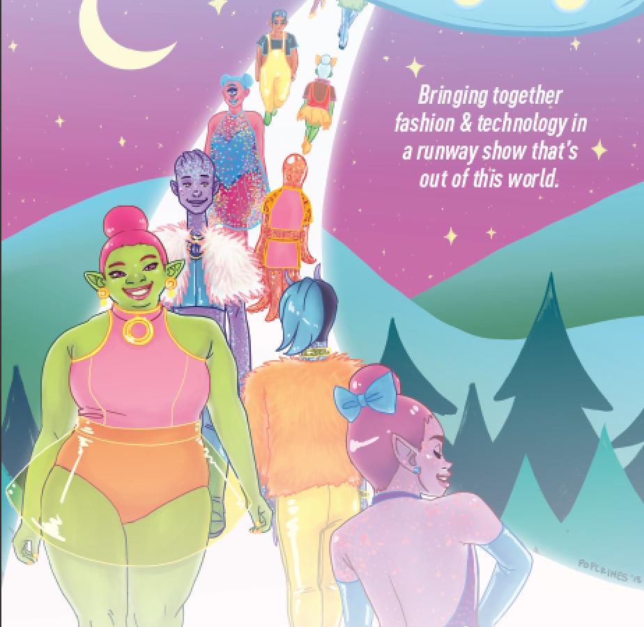Pastel space fashion wonderland designed by Popcrimes. July 2018