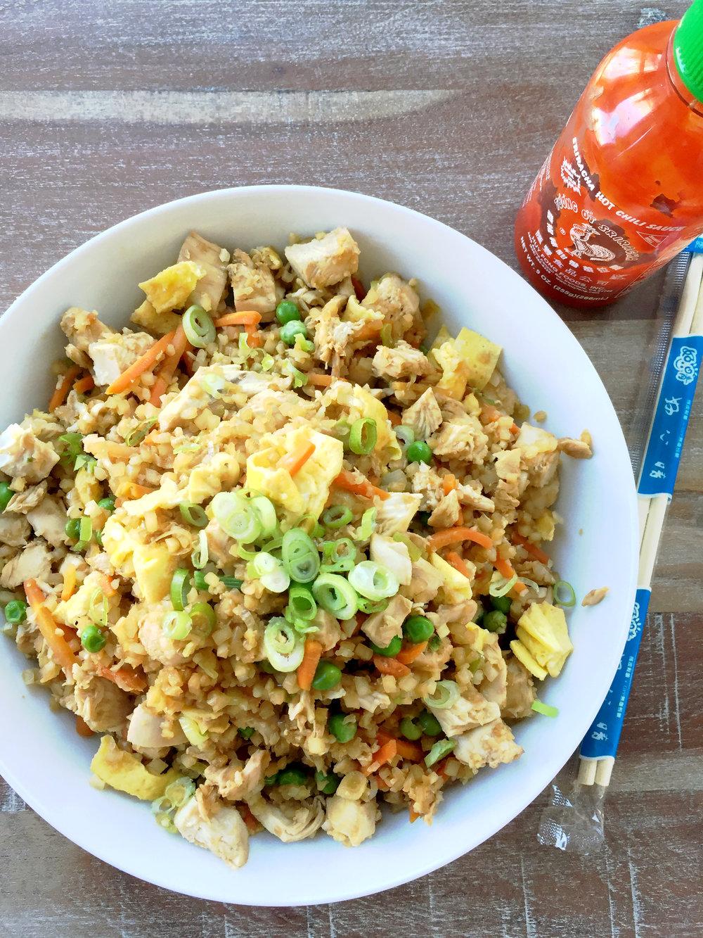 Katie Lee Cauliflower Rice Bowl