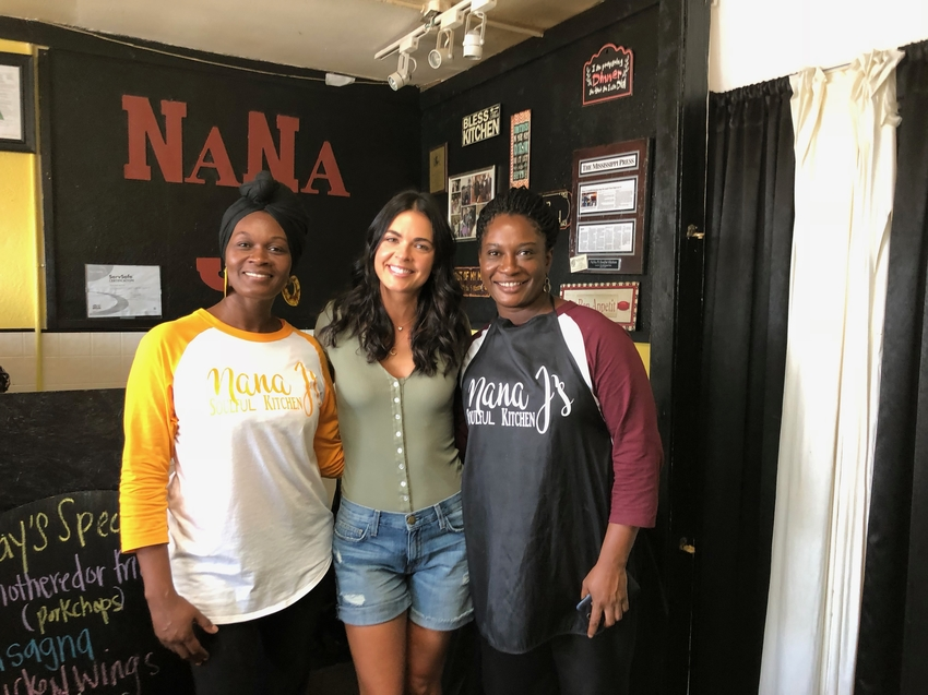 Katie Lee poses for a photo with Karen and Sherine of Nana J's.jpeg
