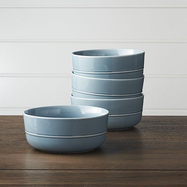 Crate and Barrel Hue Blue Bowl