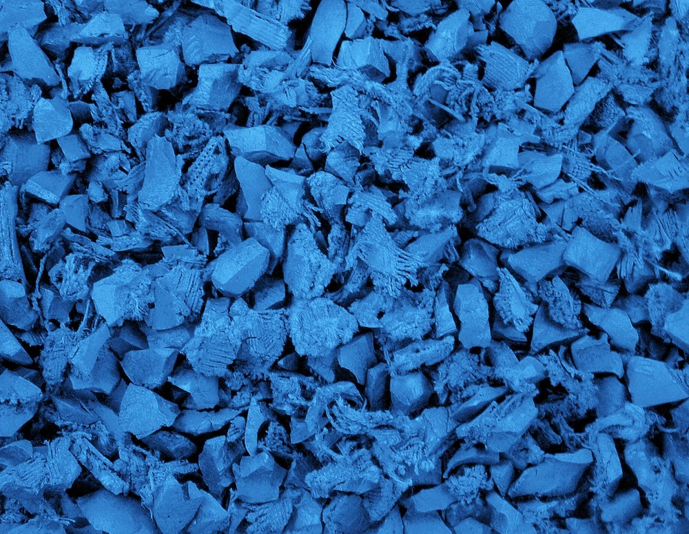 Blue Colored Ground Cover