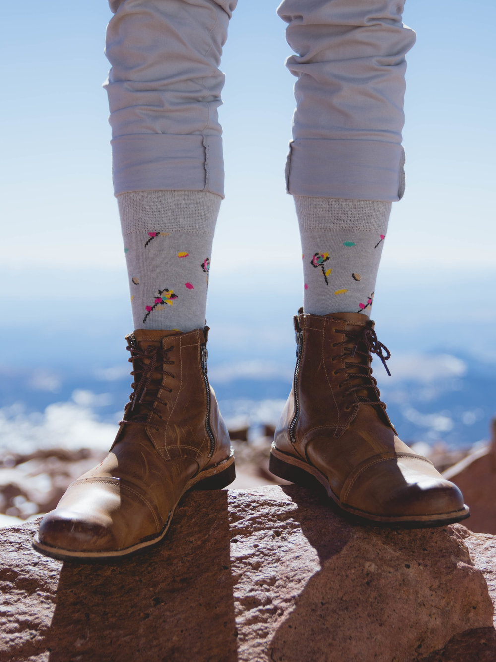 Timberland Boots on Mountain top