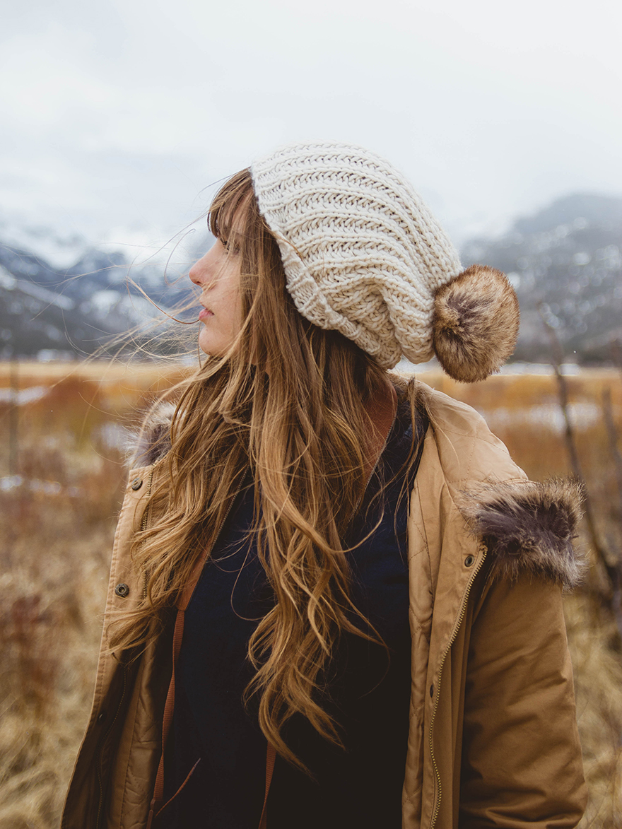 portrait of girl at rocky mountain national park