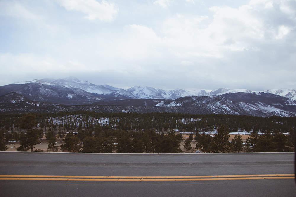 View of mountains at rocky mountain national park