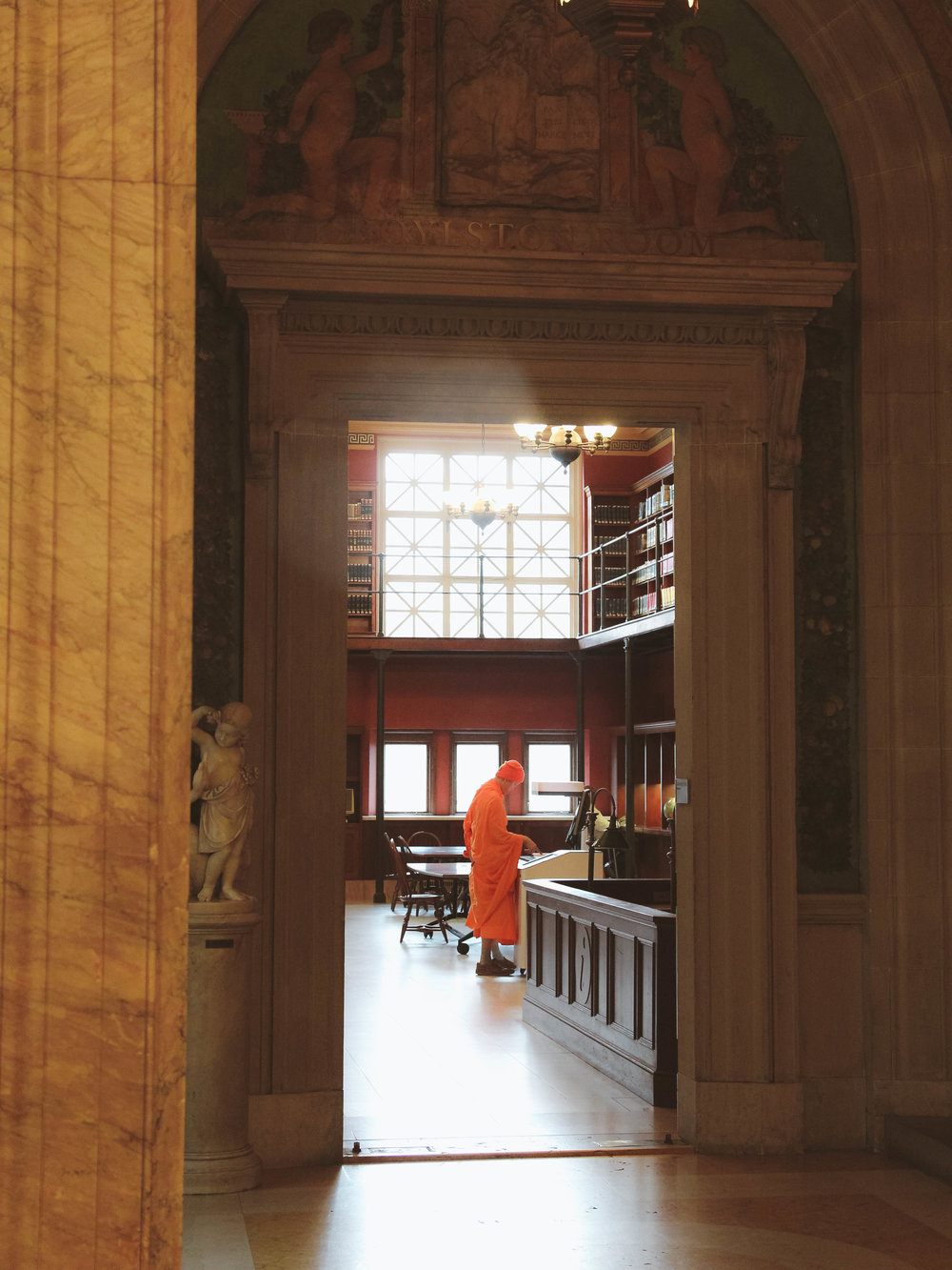 inside Great Boston library