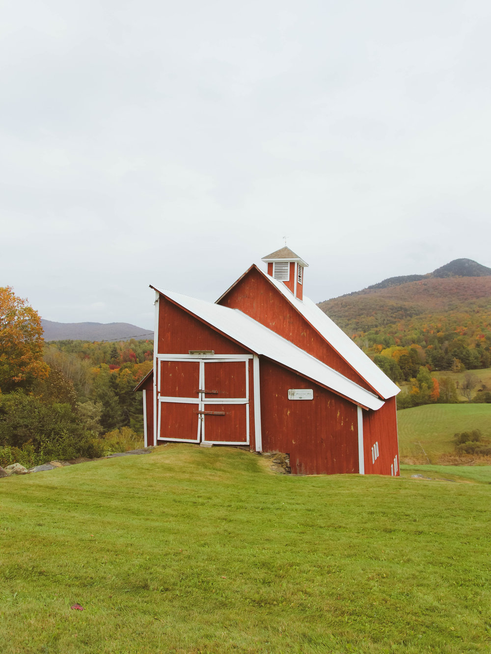 Red Barn White Roof vermont