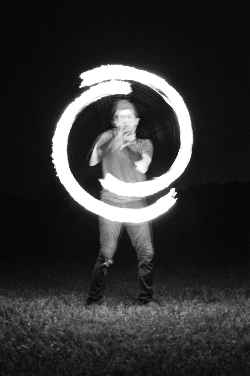 Long Exposure light shot circle