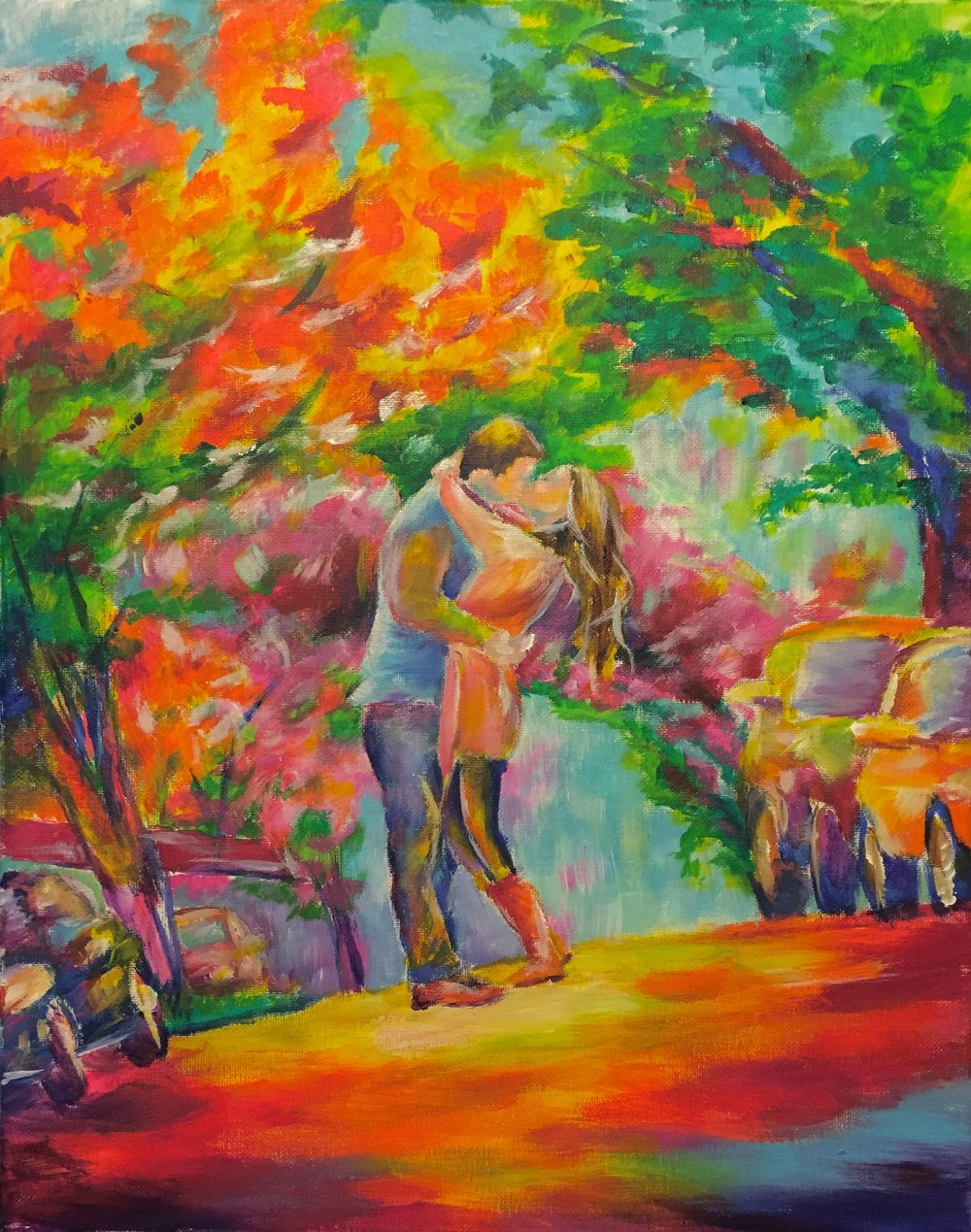 Engagement - Painting of Honeymoon before Wedding by Taylor Wise