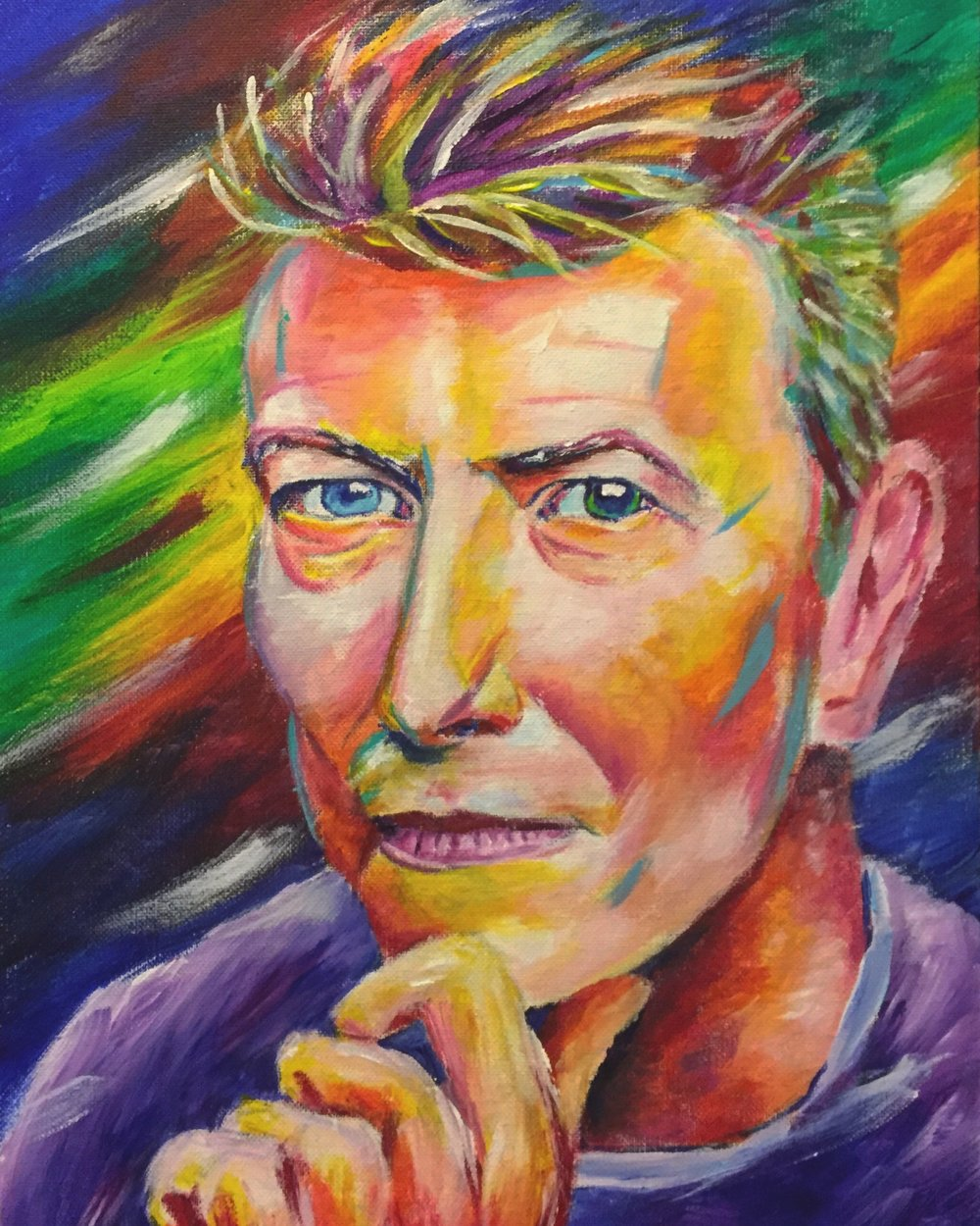 David Bowie - Painting of David Bowie by Taylor Wise
