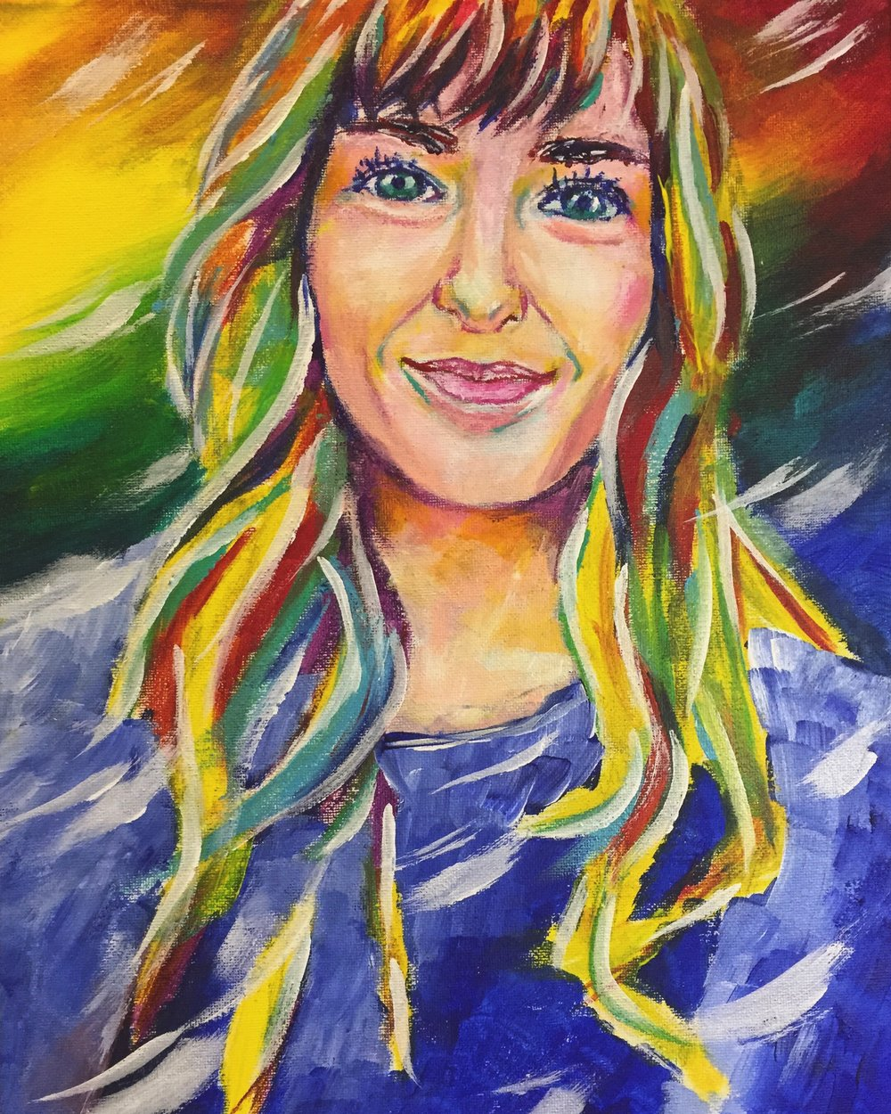 Amanda - Painting of Girlfriend by Taylor Wise