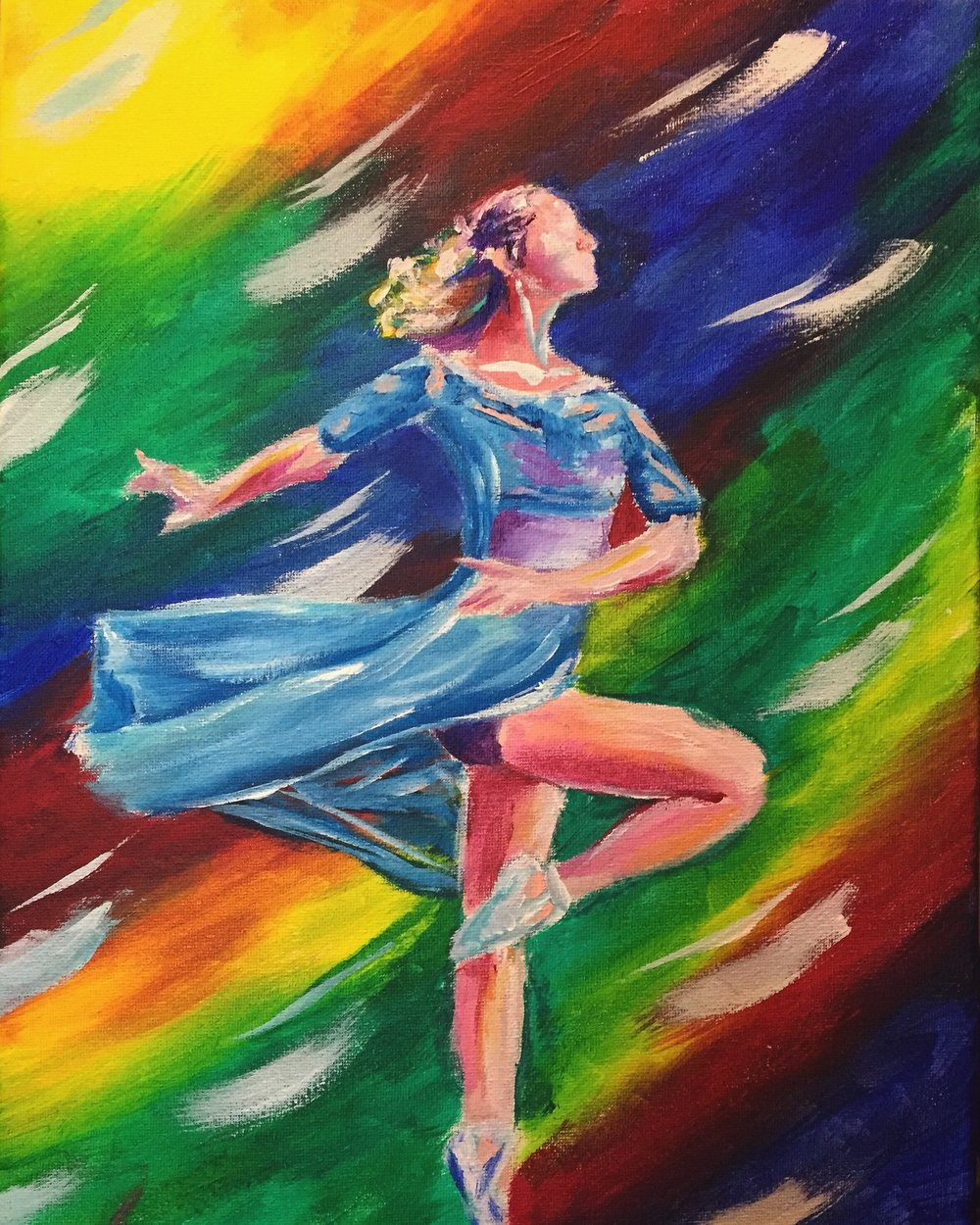 Dance the Night Away - Painting of Ballerina by Taylor Wise
