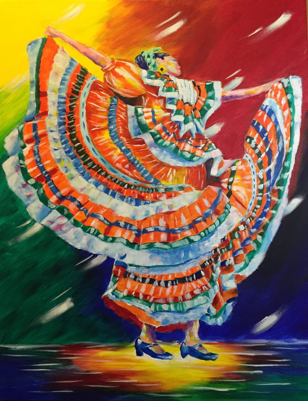Folklorico Dancer - Painting of Folklorico Dancer by Taylor Wise