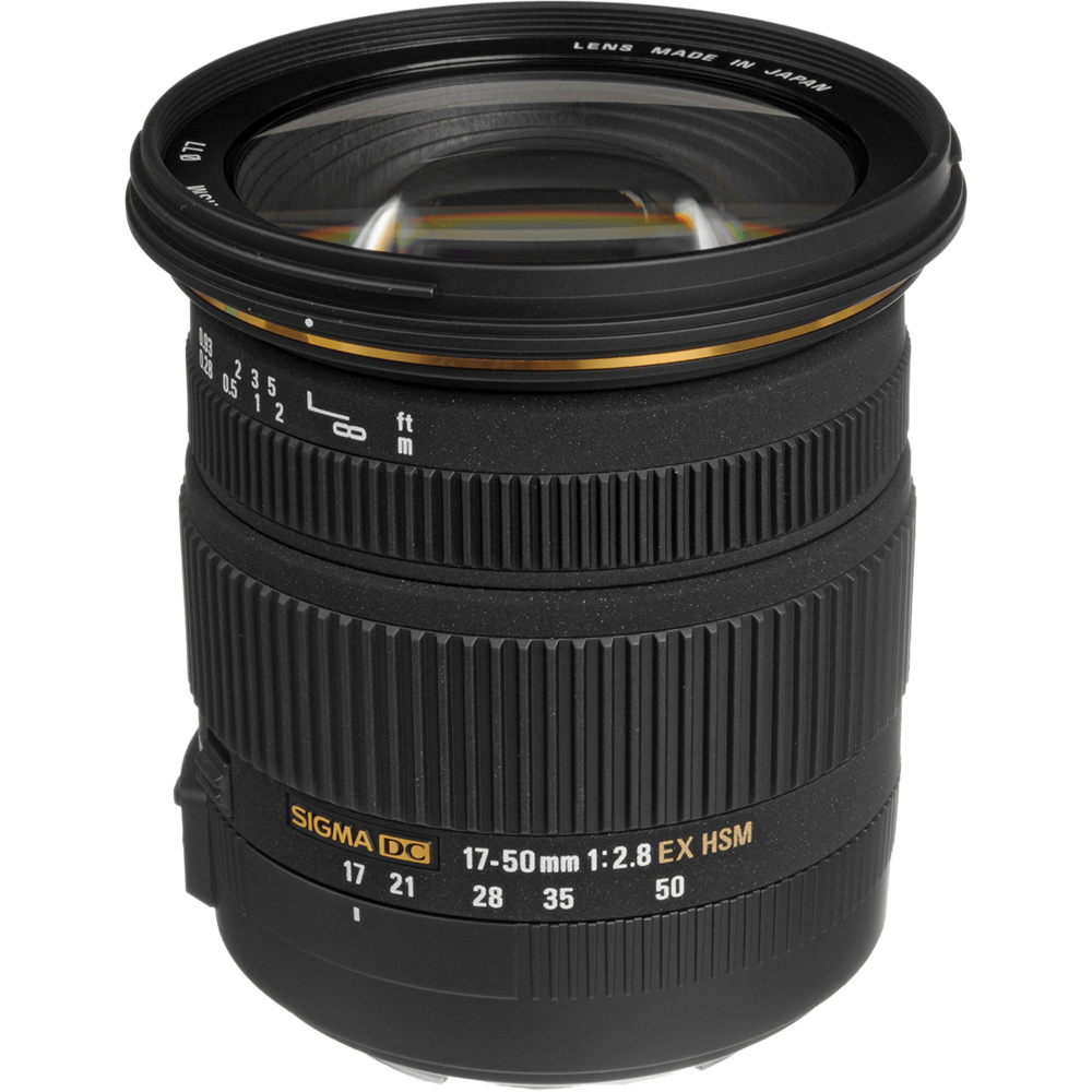 Sigma 17-50mm f/2.8The Best Carry Around Lens - Tired of only shooting with a fixed prime lens? Don't want to go overboard on a $3,000 lens? Sigma's 17-50mm lens is perfect for capturing entire skyscrapers AND framing the perfect portrait. It offers very minimal Lens Distortion, and a convenient minimum aperture of f/2.8. Sigma offers this Lens for Nikon, Sony, and Canon.