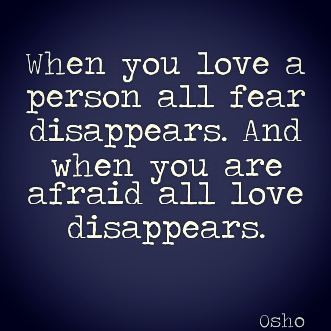 fear love osho