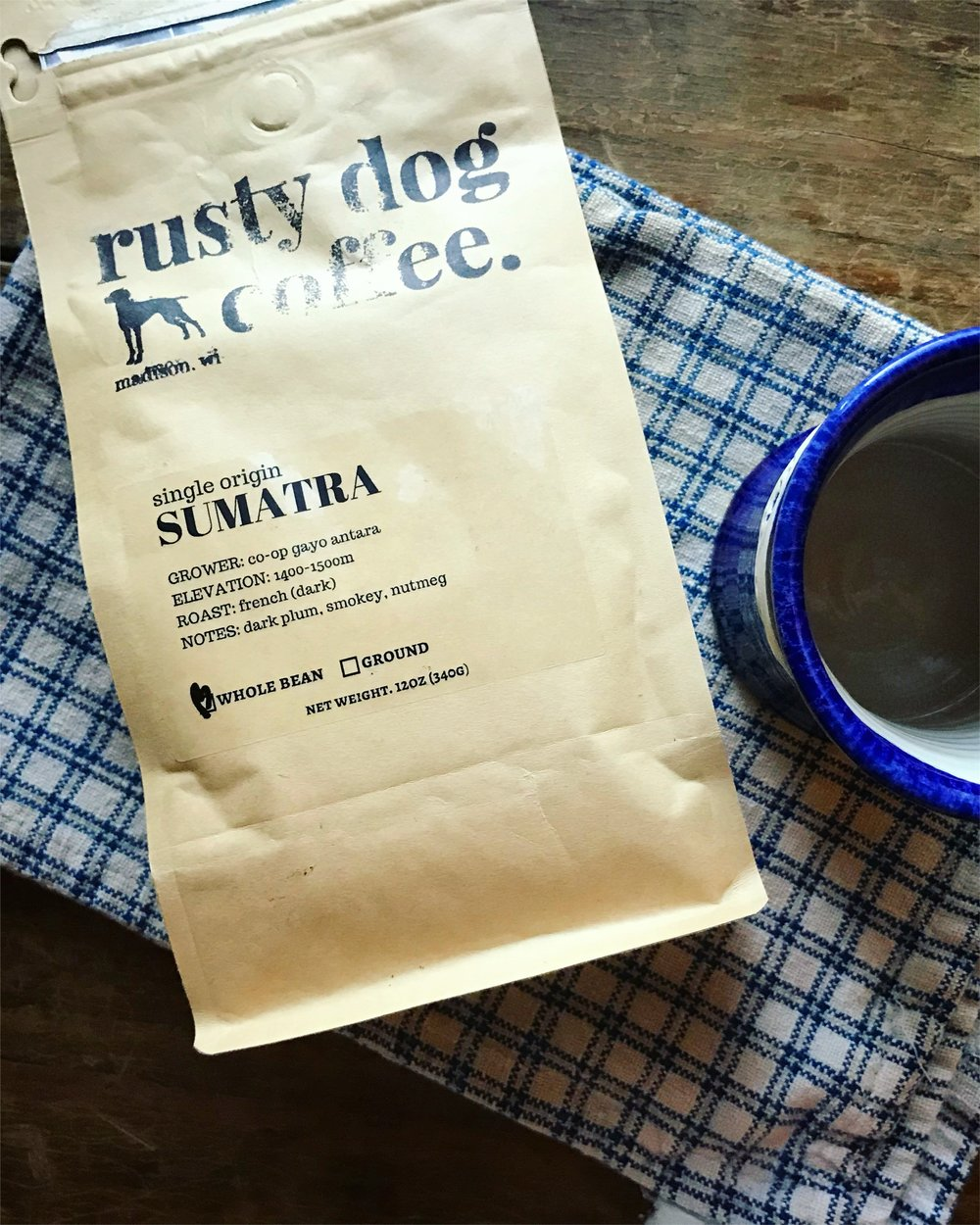 Coffee Share - Provided by Rusty Dog Coffee$216 for a 12-ounce bag of coffee delivered weekly (18 pounds total)$118 for a 12-ounce bag of coffee delivered every-other-week delivery (9 pounds total)