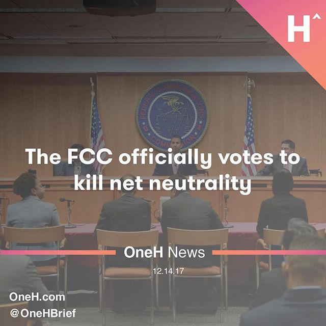 """Despite overwhelming opposition fromCongress,technical experts, advocacy organizations and, of course,the American people, the FCC has voted to eliminate 2015's Open Internet Order and the net neutrality protections it established.  ____________________  The order passed today, """"Restoring Internet Freedom,"""" essentially removes the FCC as a regulator of the broadband industry and relegates rules that prevented blocking and throttling content to the honor system. The FTC now ostensibly has that role, but it is far from an expert agency on this topic and cannot make preemptive rules like those that have been in place for the last few years.  ____________________  As expected, the vote was 3 to 2 along party lines, with Chairman Ajit Pai and Republican Commissioners Brendan Carr and Michael O'Rielly voting in favor of the order, and Democratic Commissioners Mignon Clyburn and Jessica Rosenworcel voting against."""
