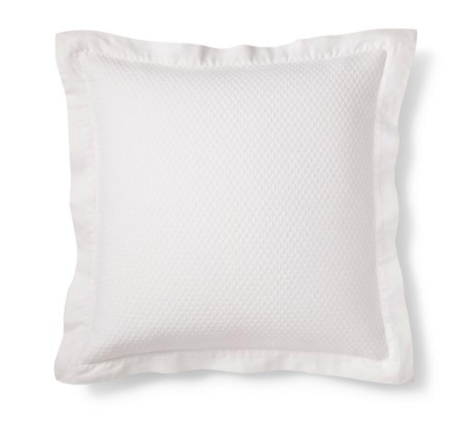 Target -White Matelasse Euro Pillow - Fieldcrest®