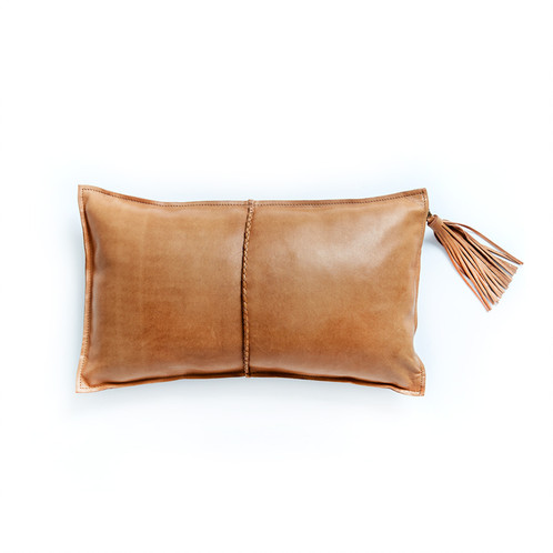 Totem Home - Tan Leather Pillow