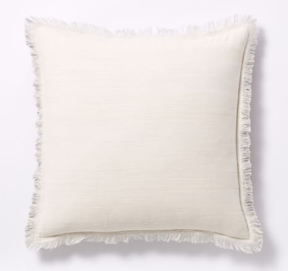 West Elm - Textured Silk Fringe Pillow Covers
