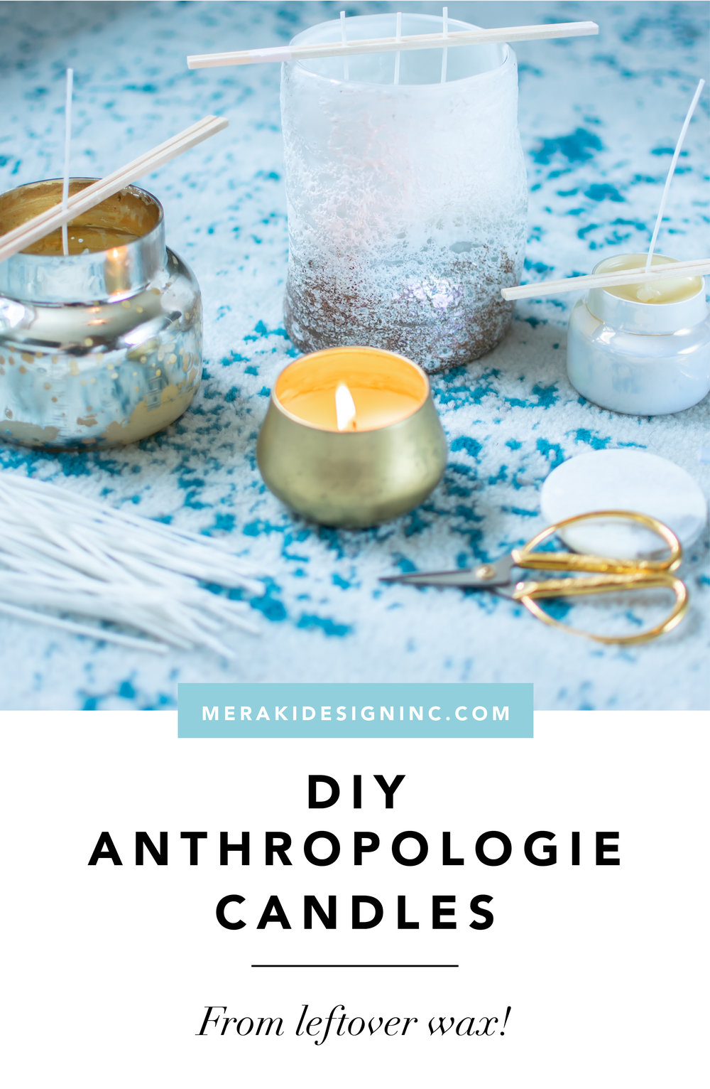 DIY Anthro Candles from Leftover Wax