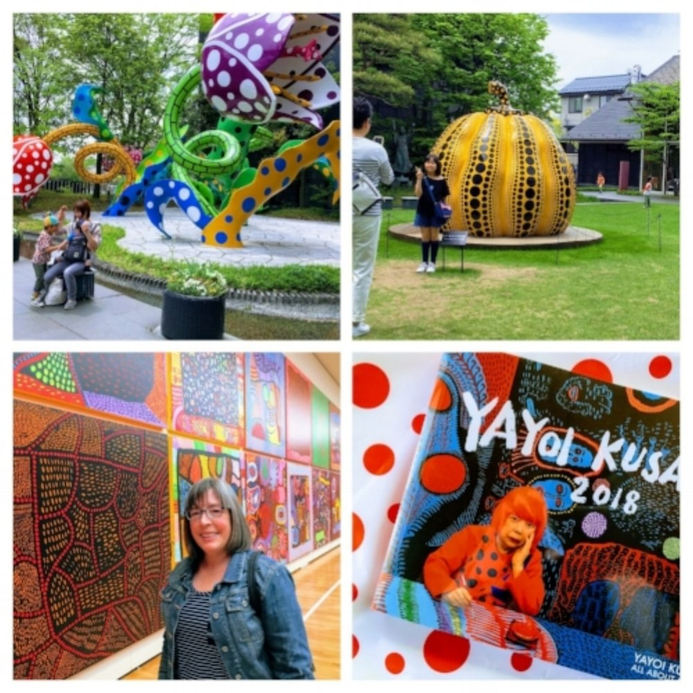- Enjoyed seeing the Yayoi Kusama exhibition in her hometown of Matsumoto, Japan