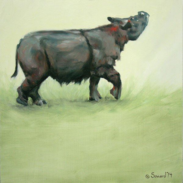 Rhinos - Rhino paintings, not part of the Rhinotopia® series, by Sarah Soward.