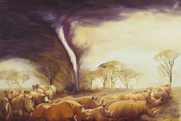 Tornado of Rhinos  copyright Sarah Soward.