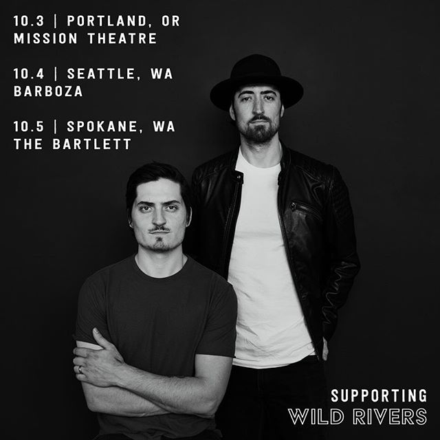 We'll be on the road for a few shows with @wildriversmusic in the Pacific Northwest this fall! Tickets on sale now.