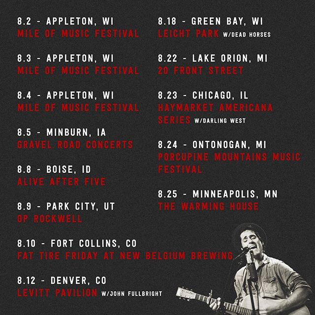 August shows are in full swing! (tickets in bio) . . . . . #thetalbottbrothers #talbottbrothers #americana #rock #mileofmusic #wisconsin #iowa #gravelroadconcerts #parkcity #utah #oprockwell #foco #colorado #newbelgium #denver #levittpavilion #greenbay #wisconsin #leichtpark #ignight #lakeorion #michigan #20frontstreet #chicago #haymarketamericana #porcupinemountains #msp #twincities #thewarminghouse #tour