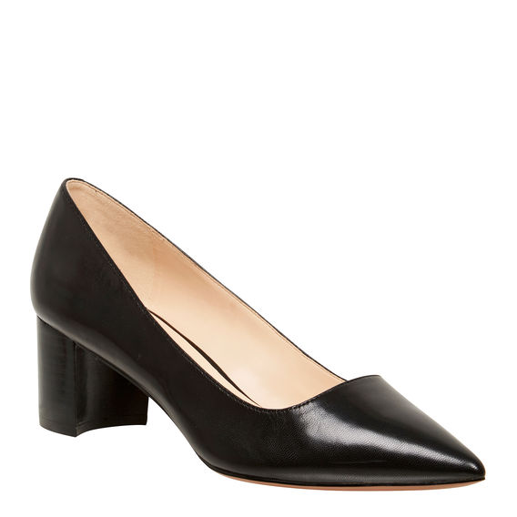 2. Staple black shoe - Of a sensible height.