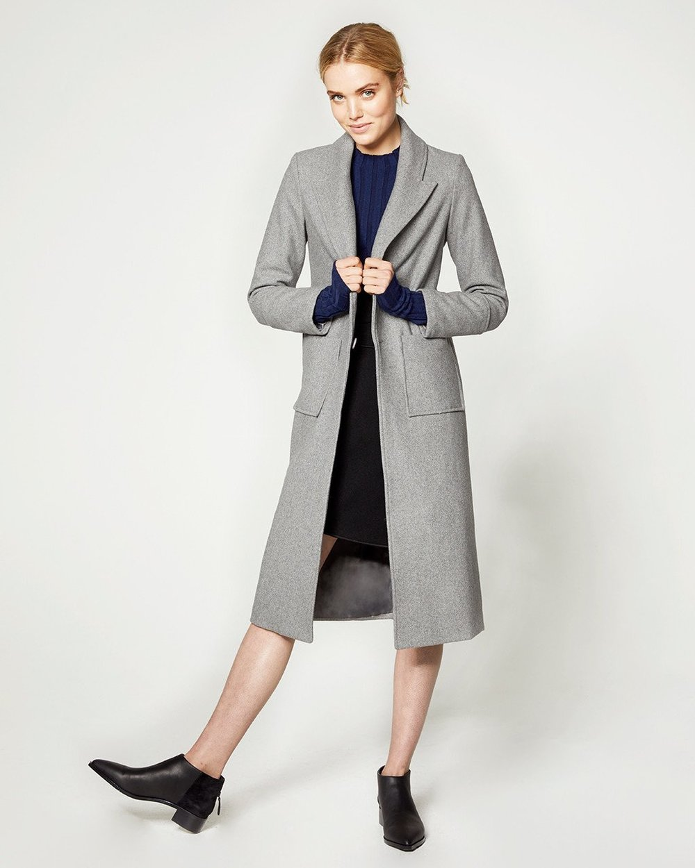 3. structured outerwear - That actually keeps the elements out.