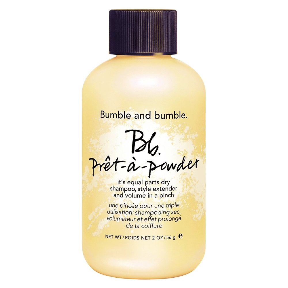 Dry shampoo & brush - Use it post-gym or prior to after work drinks.Bumble and Bumble's Prêt-à-Powder will change your life: it has both dry shampoo and volumising properties, it is economical (it is a powder rather than a spray) and you can buy it in a handbag-friendly size. As for a brush, the original Tangle Teaser is the bomb - it is small, won't rip all your hair out and will stand the test of time.