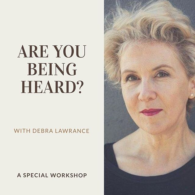 "Do you feel #confident when speaking? 🗣 Do you need tips on being listened to? Actress Debra Lawrance (of Home and Away fame) is offering 8 Navigator readers the chance to attend her workshop ""Are you being heard?"" for a significantly discounted price of $250. The workshop will be held in the Melbourne CBD on the 8th of October. Interested? Send us a DM for more details, and we'll see you there! 😉"