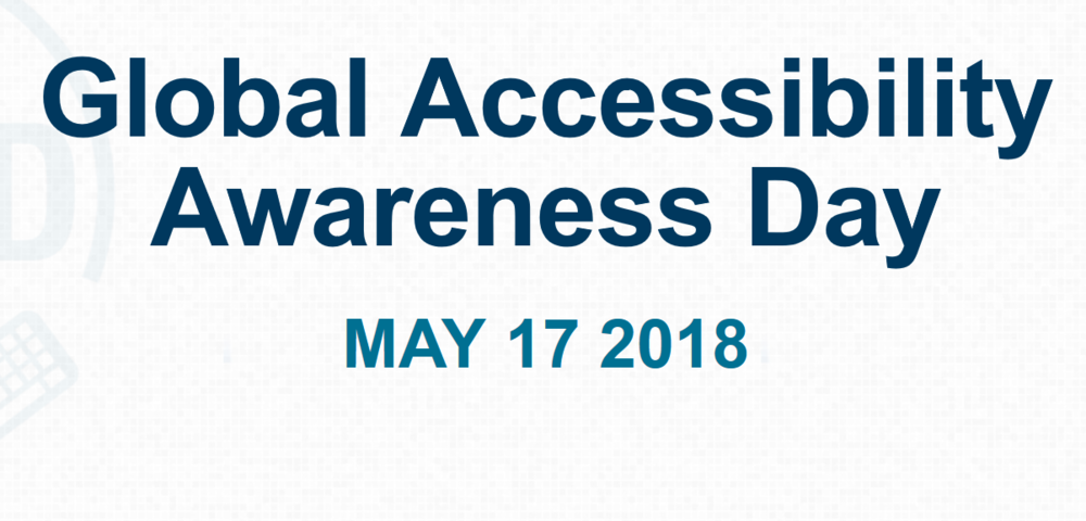 Teksten: Global Accessibility Awareness Day
