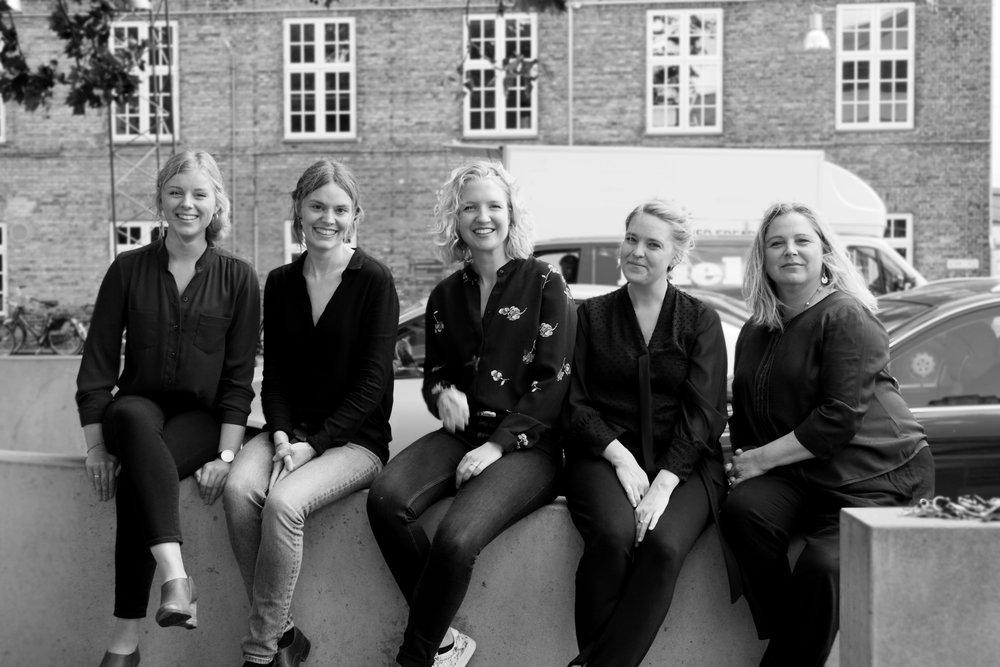 Ballast teamet - fra venstre: Michala Mathiesen, Louise Folker, Helle Vedø, Christine Svensson, Mai Rasmussen