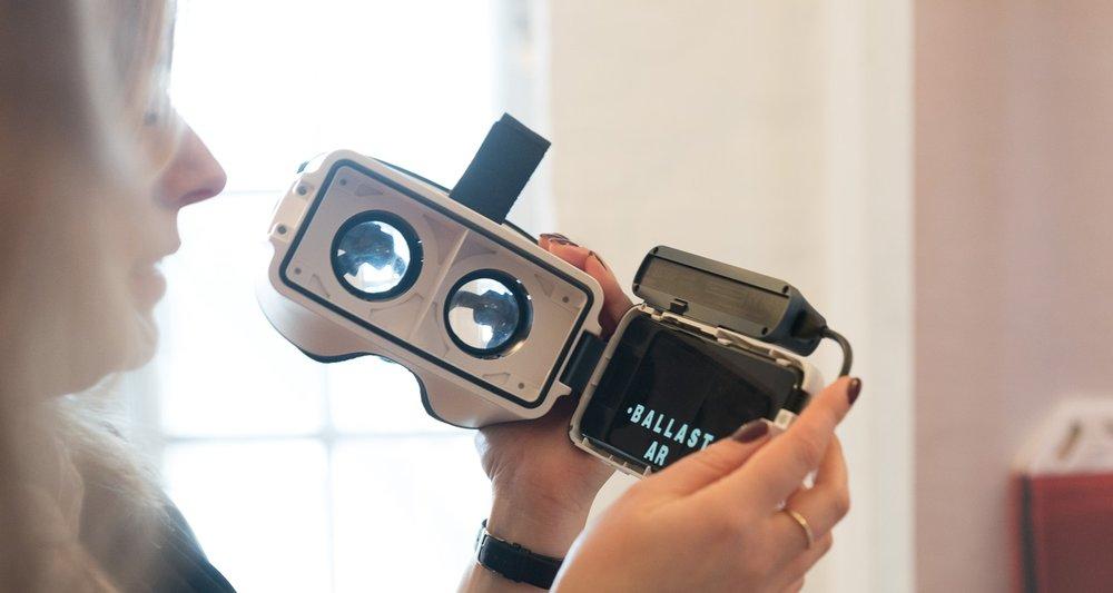 Ballasts app med  augmented reality  er på billedet ved at indlæse.   Appen hedder Ballast AR.
