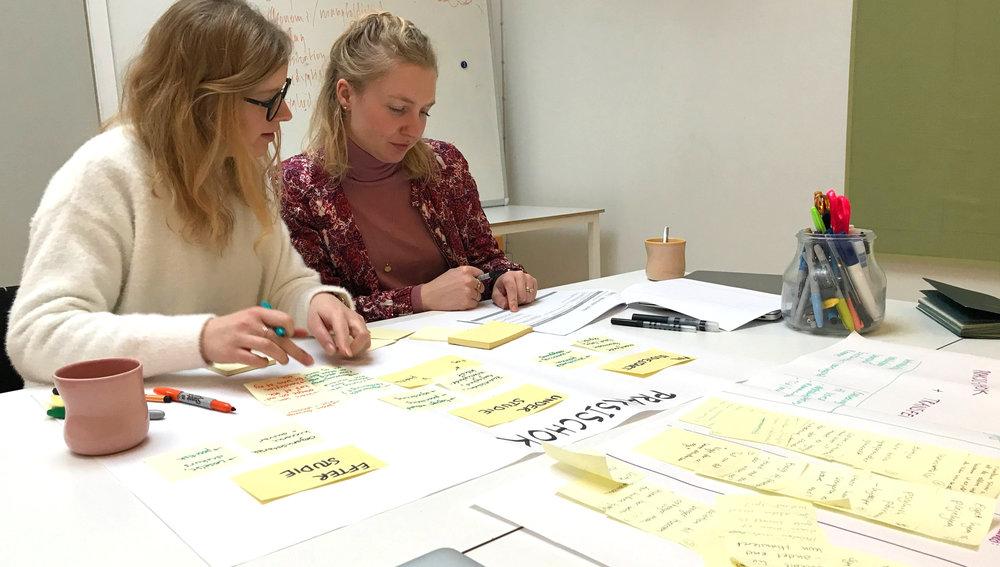To af vores designkonsulenter i gang med en identifikation af problemstillinger.